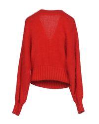 Alberta Ferretti - Red Sweaters - Lyst