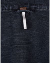 Free People - Black Denim Outerwear - Lyst