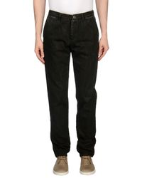 Trussardi - Brown Denim Pants for Men - Lyst