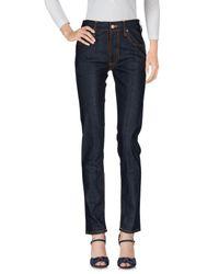 Nudie Jeans - Blue Denim Trousers - Lyst