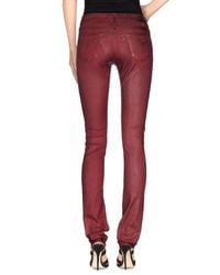 75 Faubourg - Red Denim Trousers - Lyst