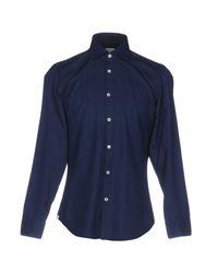 Michael Coal - Blue Shirt for Men - Lyst