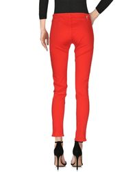 Love Moschino - Red Denim Pants - Lyst
