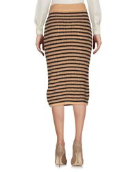 Annie P - Multicolor Knee Length Skirt - Lyst
