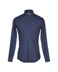 Del Siena Blue Shirt for men
