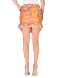 Gsus Sindustries - Orange Mini Skirts - Lyst