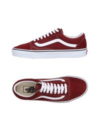 Vans - Red Low-tops & Sneakers for Men - Lyst