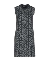 Balenciaga - Gray Short Dress - Lyst