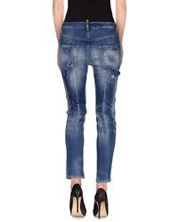 DSquared² | Blue Denim Pants | Lyst