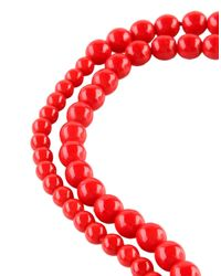 Anna Molinari - Red Necklace - Lyst