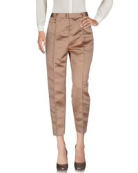 MSGM - Brown Casual Trouser - Lyst