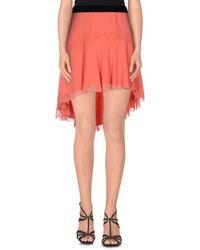Space Style Concept - Orange Mini Skirt - Lyst