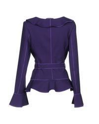 Alberta Ferretti - Purple Blazer - Lyst