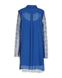 Hanita Blue Knee-length Dress