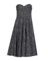 Michael Kors - Gray Knee-length Dress - Lyst