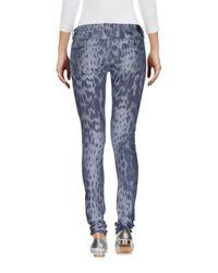 Guess - Blue Denim Trousers - Lyst