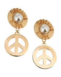 Moschino Couture   Metallic Earrings   Lyst