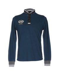 Etiqueta Negra - Blue Polo Shirt for Men - Lyst