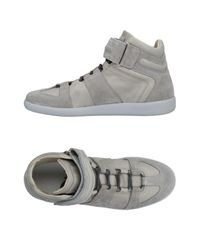 Maison Margiela - Gray High-tops & Sneakers for Men - Lyst