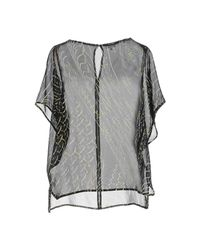 Lala Berlin - Black Blouse - Lyst