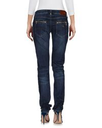 Armani Jeans - Blue Denim Pants - Lyst