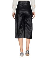 MM6 by Maison Martin Margiela Black 3/4-length Trousers