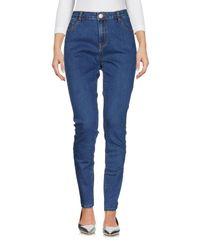 Glamorous - Blue Denim Pants - Lyst