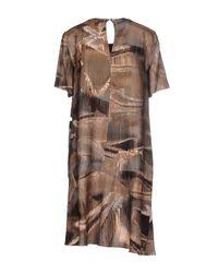 Lala Berlin - Brown Short Dress - Lyst