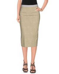 Teresa Dainelli - Green 3/4 Length Skirt - Lyst