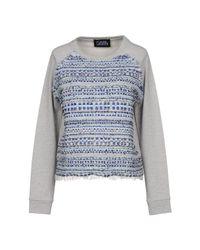 Karl Lagerfeld - Gray Sweatshirt - Lyst