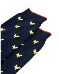 Gallo - Blue Short Socks - Lyst