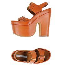 Stella McCartney - Brown Sandals - Lyst