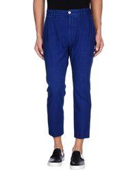 Pence - Blue Denim Pants for Men - Lyst