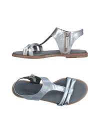 Pomme D'or - Metallic Sandals - Lyst