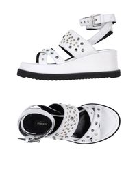 Pinko - White Sandals - Lyst