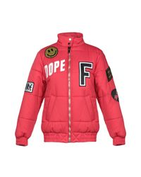 Filles A Papa Red Synthetic Down Jacket