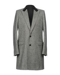 Balenciaga - Gray Coat for Men - Lyst