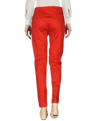Armani Jeans - Red Casual Trouser - Lyst