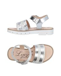 Liu Jo - Metallic Sandals - Lyst