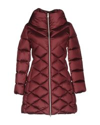 313 Tre Uno Tre - Red Down Jacket - Lyst