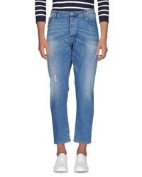 Officina 36 - Blue Denim Trousers for Men - Lyst