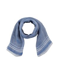 Fiorio - Blue Oblong Scarf for Men - Lyst