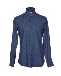 Bagutta - Blue Shirt for Men - Lyst