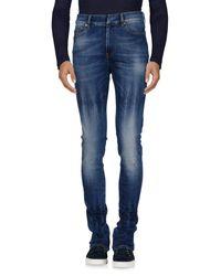 Ring - Blue Denim Pants for Men - Lyst
