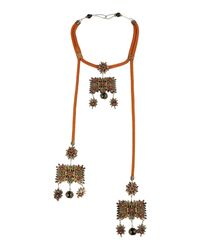 DSquared² - Brown Alanis Necklace - Lyst