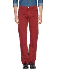 Corneliani - Red Casual Trouser for Men - Lyst