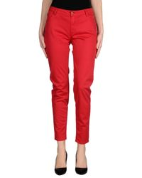 Blumarine - Red Casual Trouser - Lyst