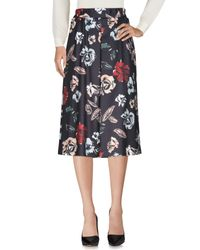 No Secrets - Black 3/4 Length Skirt - Lyst