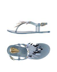 Lemon Jelly - Blue Toe Post Sandal - Lyst