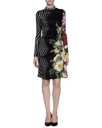 Class Roberto Cavalli - Black Knee-length Dress - Lyst